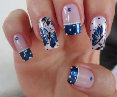 butterfly nail art7
