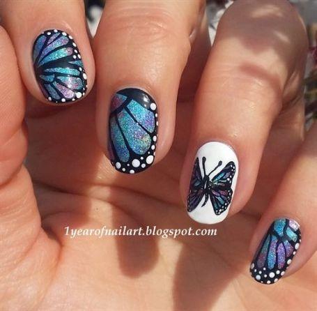 butterfly nail art9