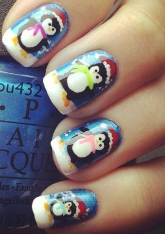 penguin nail designs5