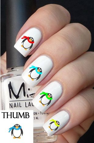penguin nail designs7