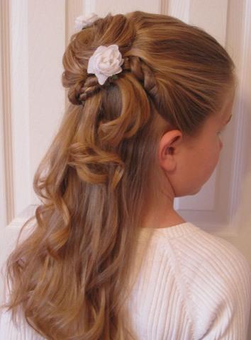 Flower Girl Hairstyles For Wedding