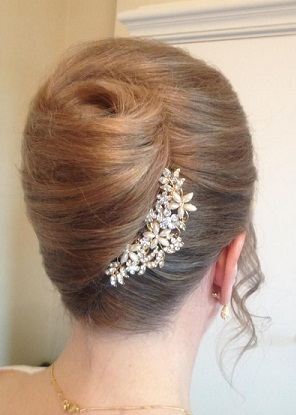 The French Twist Hairstyle for Brides