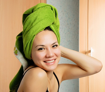 Rubbing Towel To Wet Hair