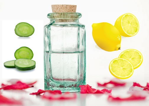 how to remove tan from face-Cucumber, Rose Water and Lemon Juice Pack