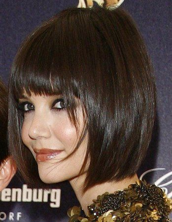 Smooth Tapered Bob With Bangs