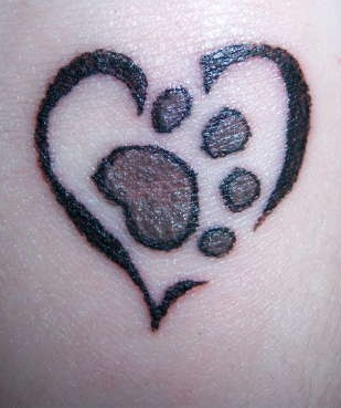 Hand Tattoo with Heart Design