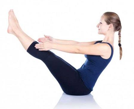 Naukasana Posture in Yoga (Boat Pose)