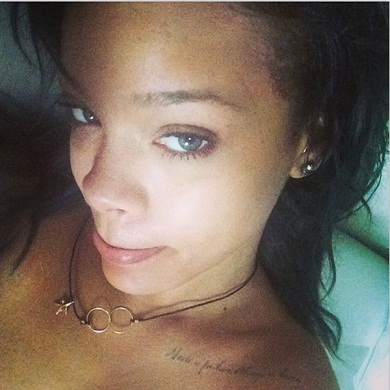 Rihanna without makeup3