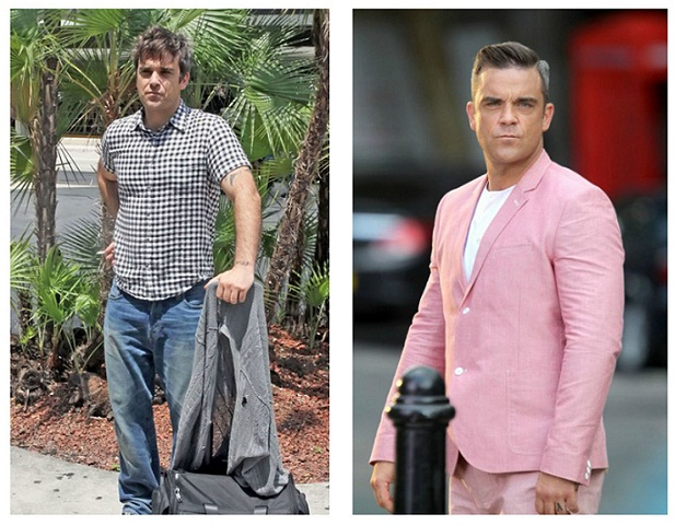 Robbie Williams Before and After Weight Loss