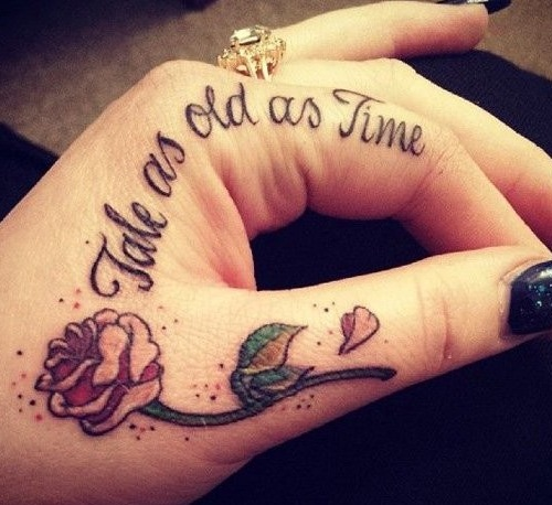 Small Hand Tattoos with Quotes