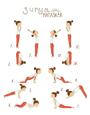 yoga stretches and exercises