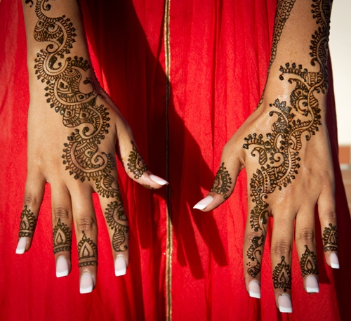 bridal mehndi for palms and forearms