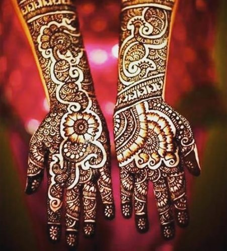 deep bridal mehndi design for weddings