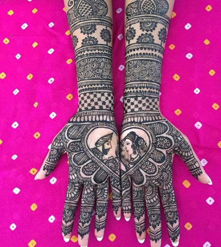 love mehndi design for bridal purposes