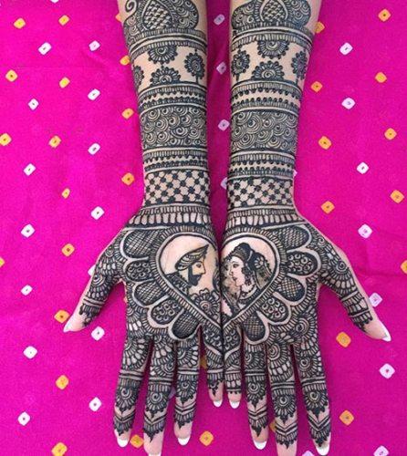 Love Mehndi Design for Bridal