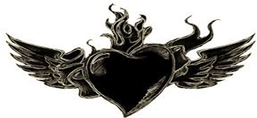 10. Black Heart Tattoos