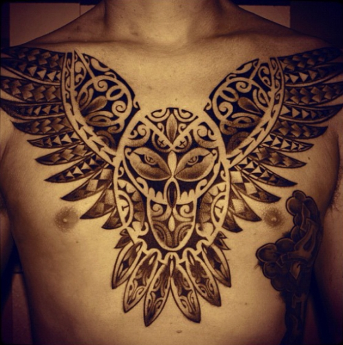 The Owl Chest Tattoos