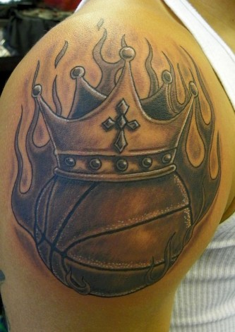 8 best basketball tattoo designs and pictures styles at life. Black Bedroom Furniture Sets. Home Design Ideas