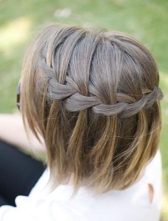 braided bob styles - Waterfall Braid