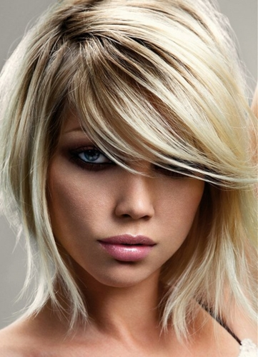 medium hairstyles with bangs 9