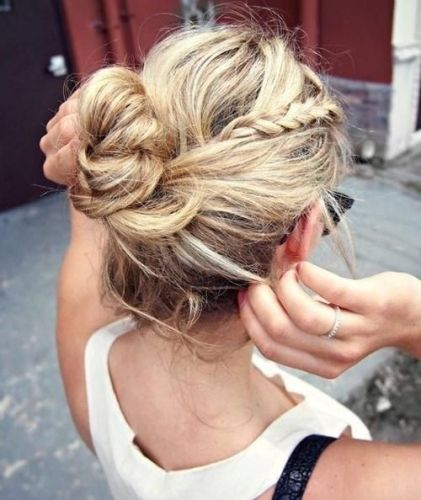 Updo Hairstyles for Medium Hair 8
