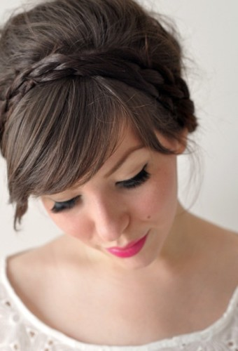 Updo hairstyles with braids 2
