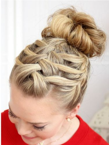 Updo hairstyles with braids 4