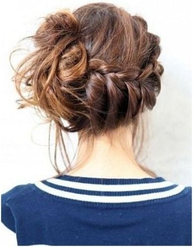 Updo hairstyles with braids 7