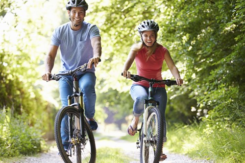 A Generic Photo of a couple cycling together through the countryside. See PA Feature WELLBEING Cycling Tips. Picture credit should read: PA Photo/thinkstockphotos. WARNING: This picture must only be used to accompany PA Feature WELLBEING Cycling Tips.