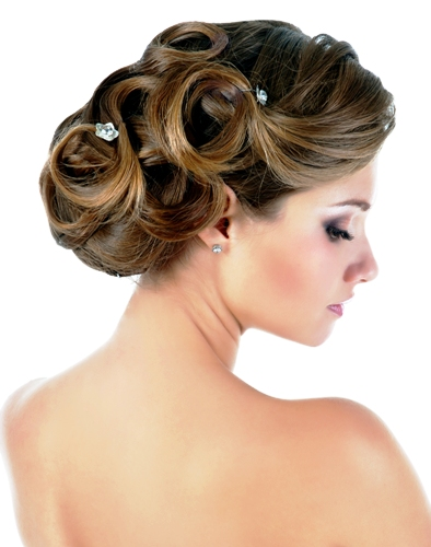 wedding hairstyle ideas   Pin curls bun
