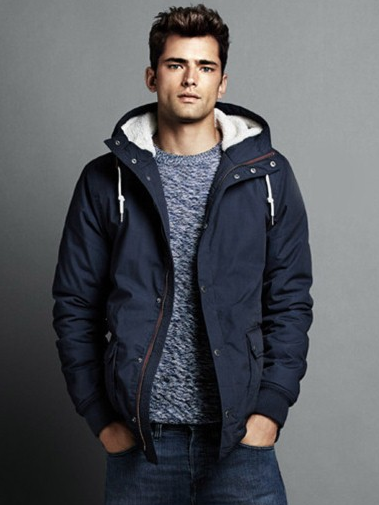 Blue Solid Casual Jacket 9
