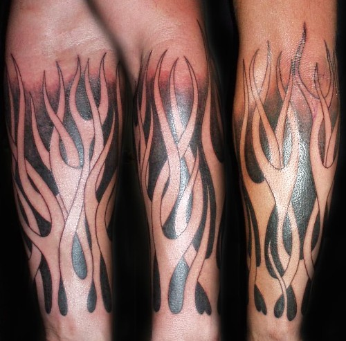 Flame Tattoos On Men Arm