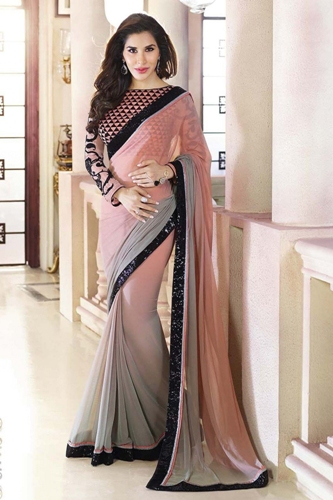 Frosted Look Designer Saree