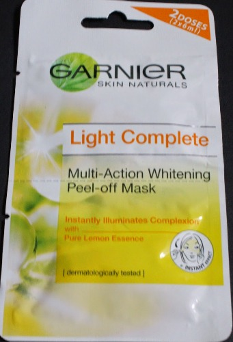 Garnier facial mask lightening whitening peel off mask 3