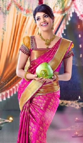 Kanchi Pattu-Pink and Golden Saree