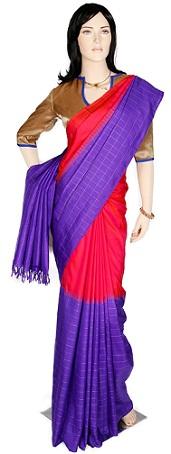 Kanchi Pattu-Violet Pattu Saree