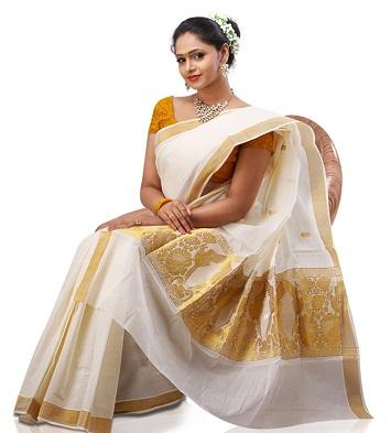 Kerala Cotton Kasavu