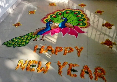 Peacock Design for New Year