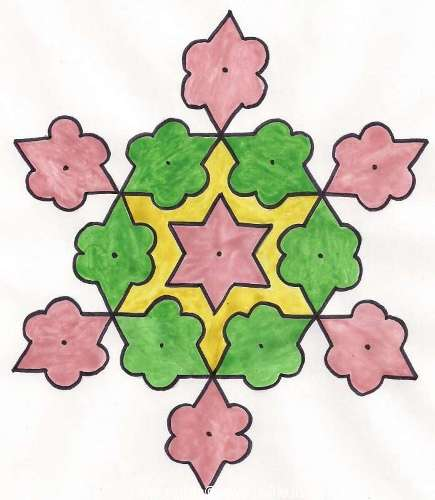 The Indian Dotted Rangoli Design