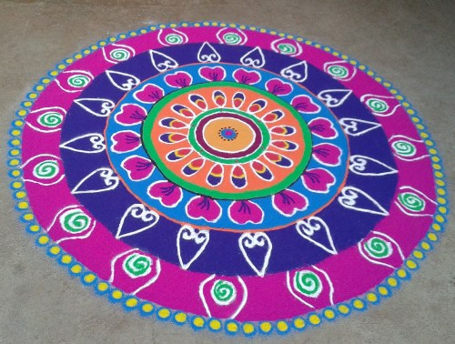 The Circular Indian Rangoli