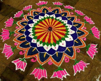 The floral rangoli design-2