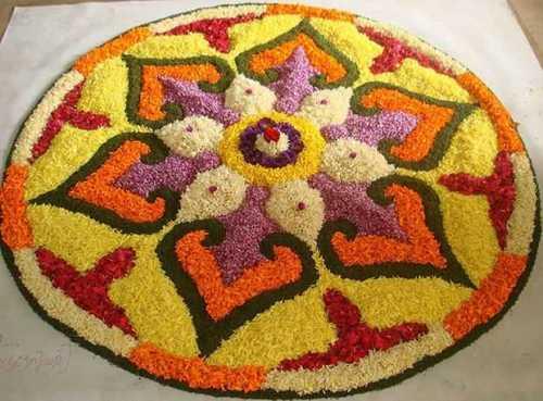 The floral rangoli design