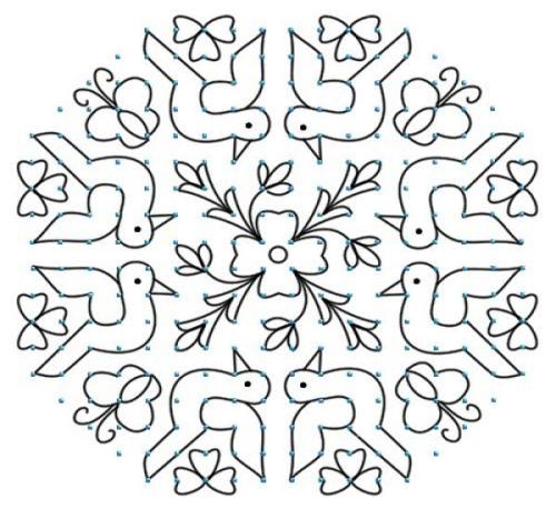 The small dot rangoli design