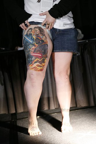 Thigh tattoos 8