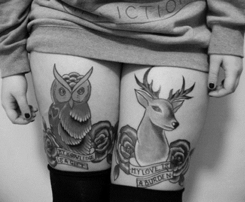 Thigh tattoos 9