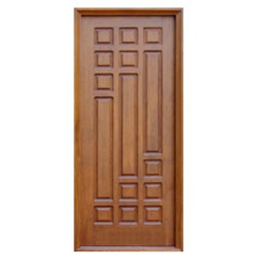 Wood single door design the image kid for Single front door designs