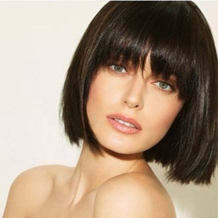 Bob Cut With Heavy Bangs