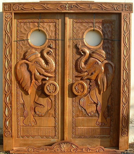 Top 8 double door designs styles at life for Front double door designs indian houses