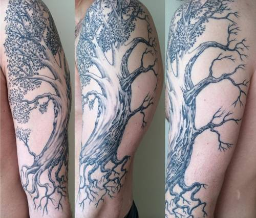 Wonderful Tree Tattoos On Hand