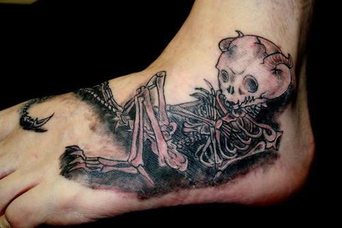 mens foot tattoos